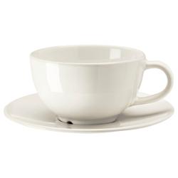 VARDAGEN Taza de té con platillo, 26cl