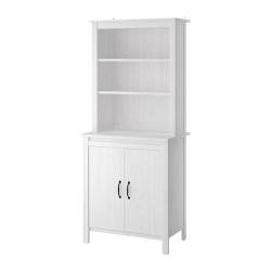 BRUSALI Mueble aparador con estantería blanco