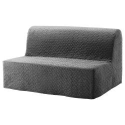 1 x LYCKSELE Funda para sofá cama, VALLARUM gris