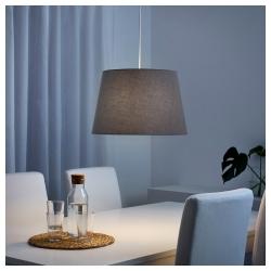 JÄRA Pantalla para lámpara gris 44 cm