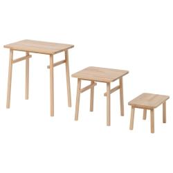 YPPERLIG Juego de mesas, 3 piezas