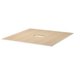 1 x BEKANT Tablero para mesa de reuniones 140x140 cm roble