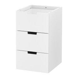 NORDLI Modular chest of 3 drawers