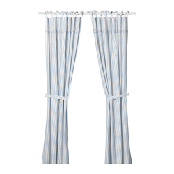 GULSPARV Curtains with tie-backs, 1 pair