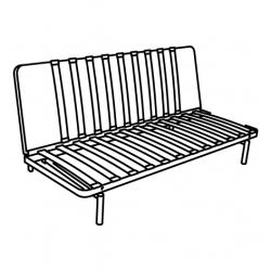 1 x NYHAMN Frame 3-seat sofa-bed