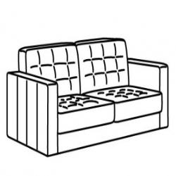 MORABO Armazón de sofá de 2 plazas