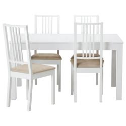 BJURSTA Mesa con 4 sillas