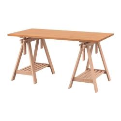 GERTON/FINNVARD Mesa de escritorio 155x75 cm con caballete de altura regulable
