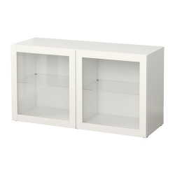 BESTÅ Estante con puertas de vidrio