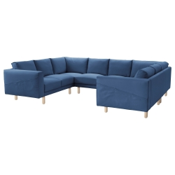 NORSBORG Funda sofá 8 plazas, forma de U