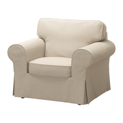 EKTORP Armchair, NORDVALLA beige