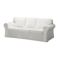 EKTORP Three-seat sofa, VITTARYD white