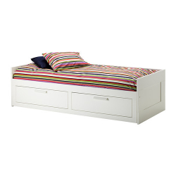 BRIMNES Day-bed with 2 mattress MEISTERVIK