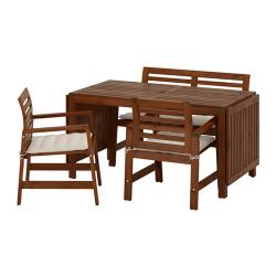 ÄPPLARÖ Mesa+2 sillas rpsbrzs+banco, ext