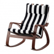 POÄNG Rocking-chair brown, STENLI white/black