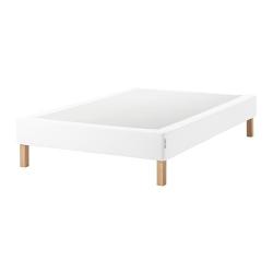 ESPEVÄR Base para colchón 140 con patas BURFJORD 20cm, funda blanca