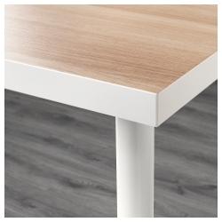 LINNMON/ADILS Mesa de escritorio 120x60 cm blanco efecto roble