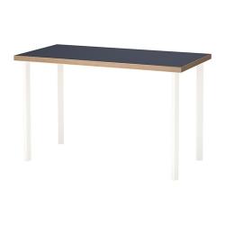 LINNMON/GODVIN Mesa de escritorio 120x60 cm azul/blanco