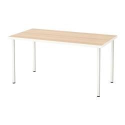 LINNMON/ADILS Mesa de escritorio 150x75 cm blanco efecto roble