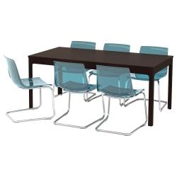 EKEDALEN/TOBIAS Mesa y 6 sillas