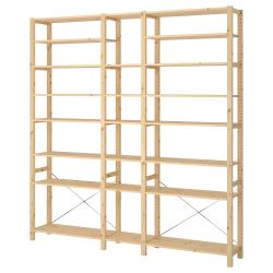 IVAR Estructura almacenaje 219x30x226 cm con estantes