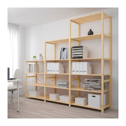 IVAR Estructura almacenaje 259x50x226 cm con estantes