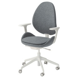 HATTEFJÄLL Swivel chair with armrests
