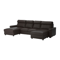 LIDHULT Sofá 4 plazas con divanes de piel