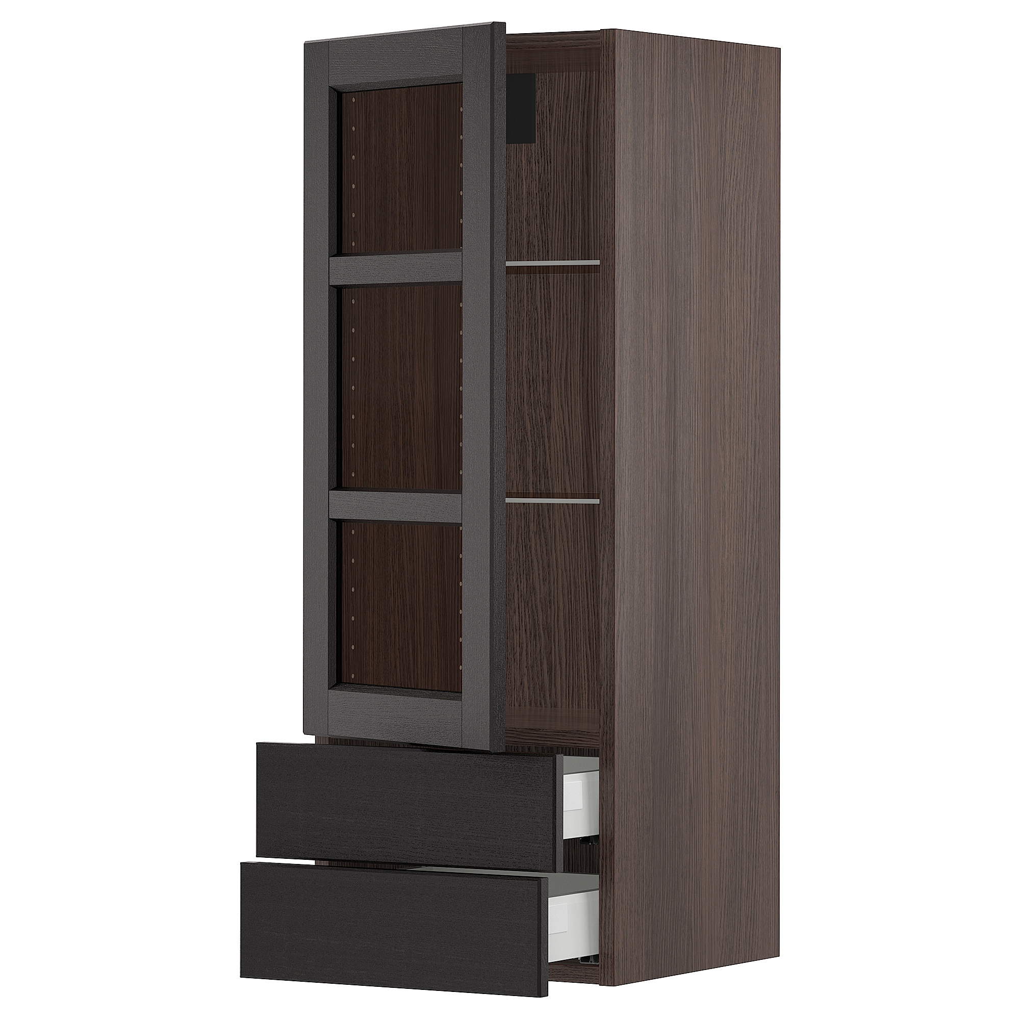 SEKTION armario pared prt vidrio/2 cajones