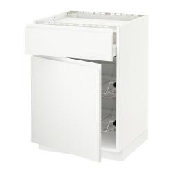 METOD Armario bajo placa cajón y 2 cestos