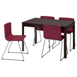 EKEDALEN/BERNHARD Mesa con 4 sillas