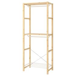 IVAR Armario abierto 89x50x226 cm doble barra con estante