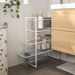 JONAXEL Estructura organización 25x51x70 cm con cestos rejilla ancha