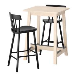 NORRÅKER/NORRARYD Mesa de bar+2 taburetes bar