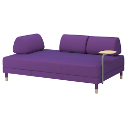 FLOTTEBO Sofa-bed with side table