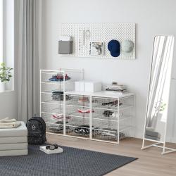 JONAXEL Estructura organización 148x51x104 cm con cestos y estante superior