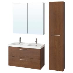 GODMORGON/ODENSVIK Bathroom furniture, set of 6