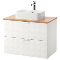 GODMORGON/TOLKEN/HÖRVIK Armario encimera+lavamanos 17 3/4x12 2/8