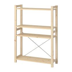 IVAR Estantería 89x30x124 cm con cuatro estantes