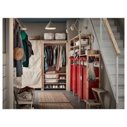 IVAR Estructura almacenaje 259x30x179 cm tres secciones con estantes, cajones y armarios
