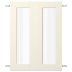 GRIMSLÖV Par puertas vidrio+bisagras