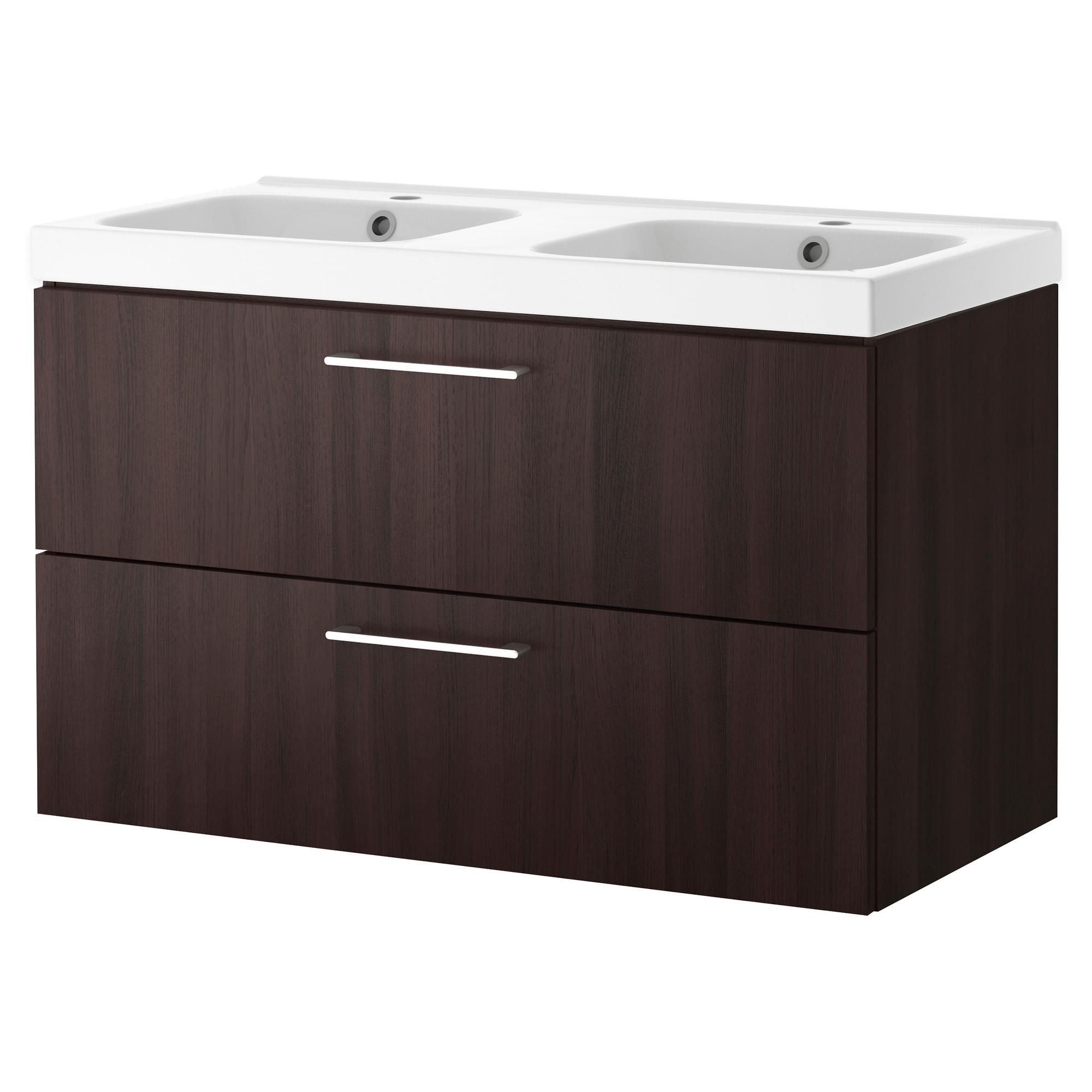 Godmorgon odensvik doble armario lavabo 2 cajones 100cm - Armario lavabo ikea ...