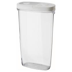 IKEA 365+ Recipiente plástico con tapa, 2.3lt