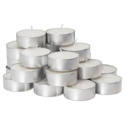 GLIMMA Unscented candle in metal cup 24 units.