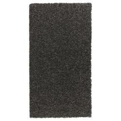 ALHEDE Alfombra, pelo largo 80x150 negro