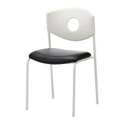 STOLJAN Armazón de silla con respaldo blanco (sin asiento)