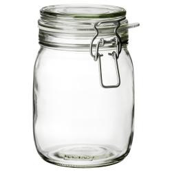 KORKEN Recipiente vidrio con tapa, 1lt