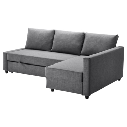 FRIHETEN Sofá cama esquina gris oscuro