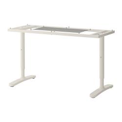 1 x BEKANT Estructura para tablero escritorio 140x60 cm blanco
