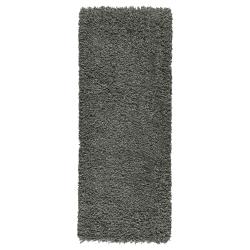 GÅSER Alfombra, pelo largo 56x150 gris osc